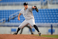 Tampa Yankees pitcher Corey Black #28 during a game against the Dunedin Blue Jays on April 11, 2013 at Florida Auto Exchange Stadium in Dunedin, Florida.  Dunedin defeated Tampa 3-2 in 11 innings.  (Mike Janes/Four Seam Images)