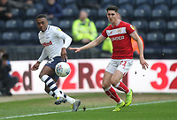 Preston North End's Darnell Fisher  in action with Bristol City's Callum O'Dowda<br /> <br /> Photographer Mick Walker/CameraSport<br /> <br /> The EFL Sky Bet Championship - Preston North End v Bristol City - Saturday 2nd March 2019 - Deepdale Stadium - Preston<br /> <br /> World Copyright © 2019 CameraSport. All rights reserved. 43 Linden Ave. Countesthorpe. Leicester. England. LE8 5PG - Tel: +44 (0) 116 277 4147 - admin@camerasport.com - www.camerasport.com
