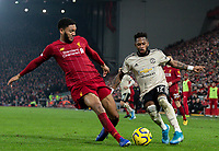 Manchester United's Fred battles with Liverpool's Joe Gomez<br /> <br /> Photographer Alex Dodd/CameraSport<br /> <br /> The Premier League - Liverpool v Manchester United - Sunday 19th January 2020 - Anfield - Liverpool<br /> <br /> World Copyright © 2020 CameraSport. All rights reserved. 43 Linden Ave. Countesthorpe. Leicester. England. LE8 5PG - Tel: +44 (0) 116 277 4147 - admin@camerasport.com - www.camerasport.com