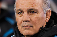 Argentina head coach Alejandro Sabella. Argentina and Ecuador played to a 0-0 tie during an international friendly at MetLife Stadium in East Rutherford, NJ, on November 15, 2013.