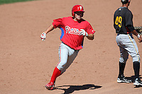 March 30, 2010:  Third Baseman Adam Buschini (26) of the Philadelphia Phillies organization during Spring Training at Bright House Field in Clearwater, FL.  Photo By Mike Janes/Four Seam Images