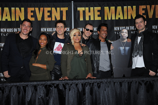 WWW.ACEPIXS.COM<br /> January 20, 2015 New York City<br /> <br /> Chilli  and T Boz of TLC, Joey McIntyre, Danny Wood, Donnie Wahlberg, Jonathan Knight, and Jordan Knight of the group New Kids on The Block  attending a Press Conference at Madison Square Garden on January 20, 2015 in New York City. <br /> <br /> By Line: Kristin Callahan/ACE Pictures<br /> ACE Pictures, Inc.<br /> tel: 646 769 0430<br /> Email: info@acepixs.com<br /> www.acepixs.com
