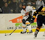 30 December 2007: University of Vermont Catamounts' defenceman Kevan Miller, a Freshman from Los Angeles, CA, in action against the Quinnipiac University Bobcats at Gutterson Fieldhouse in Burlington, Vermont. The Bobcats defeated the Catamounts 4-1 to win the Sheraton/TD Banknorth Catamount Cup Tournament...Mandatory Photo Credit: Ed Wolfstein Photo