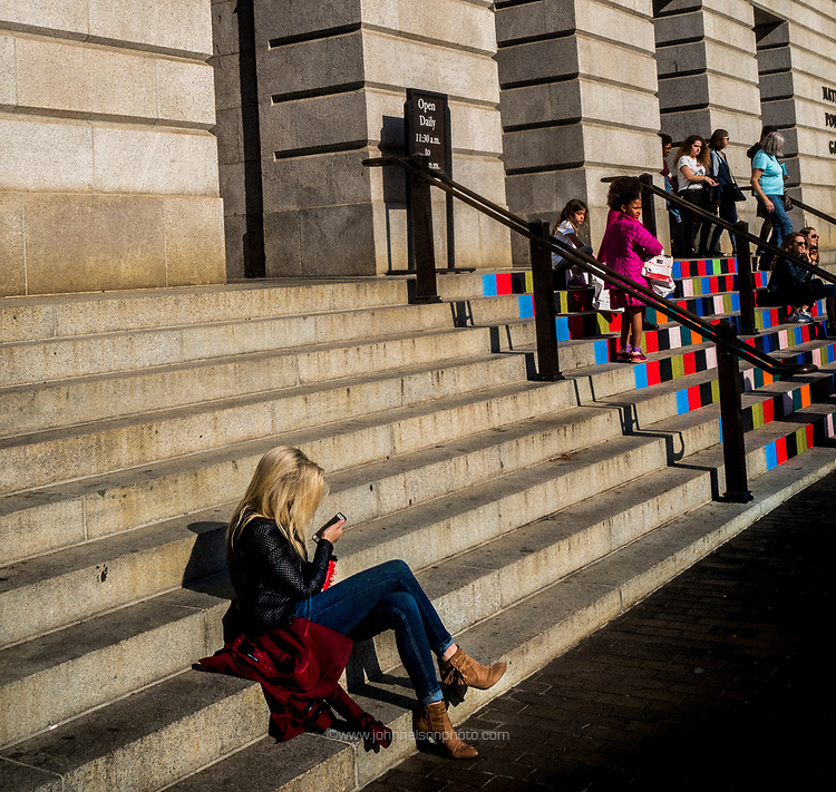 On the steps of the National Portrait Gallery, Washington, DC