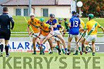 Kieran McCarthy Kilmoyley in action against Colin Sheehy Lixnaw in the Kerry County Senior Hurling championship Final between Kilmoyley and Lixnaw at Austin Stack Park on Sunday.