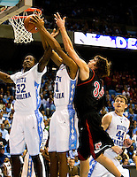 11/06/09: Exhibition game between the Belmont Abbbey Men's Basketball team and the University of North Carolina, at the Dean Smith Center in Chapel Hill, North Carolina.