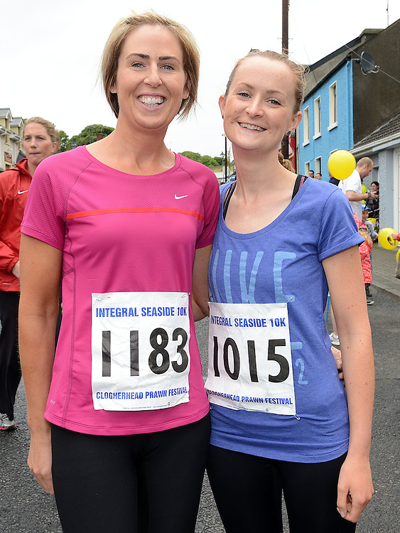 Martina Smith and Sinead Cannon who ran the Integral Clogherhead 10K run. Photo:Colin Bell/pressphotos.ie