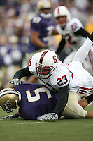 11 November 2006: Brandon Harrison during Stanford's 20-3 win over the Washington Huskies in Seattle, WA.