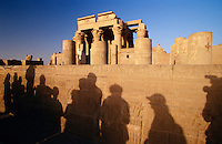 Tourist group visiting Temple of Sobek and Haroeris.