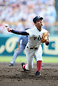 Kosuke Fukushima (Osaka Toin),<br /> AUGUST 25, 2014 - Baseball :<br /> Kosuke Fukushima of Osaka Toin pitches during the 96th National High School Baseball Championship Tournament final game between Mie 3-4 Osaka Toin at Koshien Stadium in Hyogo, Japan. (Photo by Katsuro Okazawa/AFLO)