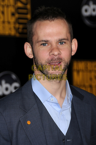 DOMINIC MONAGHAN. 2009 American Music Awards - Arrivals held at the Nokia Theatre L.A. Live, Los Angeles, California, USA..November 22nd, 2009.AMA AMA's headshot portrait blue stubble facial hair mouth open.CAP/ADM/BP.©Byron Purvis/AdMedia/Capital Pictures.