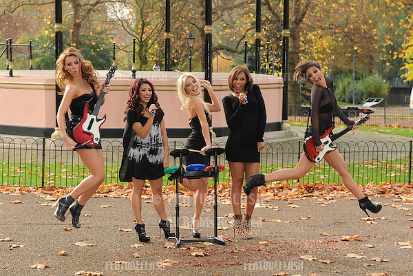 The Saturdays pose at the Band Hero Photocall in Hyde Park,  London. 06/11/ 2009.Picture By: Gerry Copper / Featureflash..