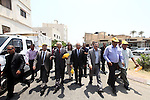 Palestinian Prime minister Salam Fayyad, attends the opening of Freedom Square in the West Bank city of Jericho on June 20, 2012.. Photo by Mustafa Abu Dayeh