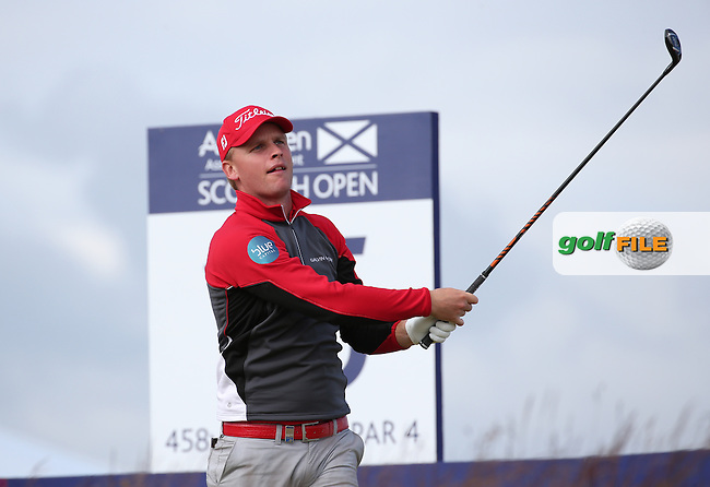 Morten Orum Madsen (DEN) during Round Two of the 2016 Aberdeen Asset Management Scottish Open, played at Castle Stuart Golf Club, Inverness, Scotland. 08/07/2016. Picture: David Lloyd | Golffile.<br /> <br /> All photos usage must carry mandatory copyright credit (&copy; Golffile | David Lloyd)