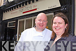 BACK IN ACTION: Listowel chef, Bill Fitzmaurice and his wife Ann, who have just returned to the town to re-open Mai Fitz's restaurant on William Street.