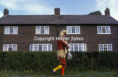 Abbots Bromley Horn Dance. Staffordshire. The Fool or Jester. September.