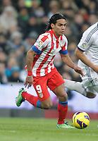 Atletico de Madrid's Radamel Falcao during La Liga Match. December 01, 2012. (ALTERPHOTOS/Alvaro Hernandez)