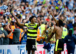 Isaiah Brown of Huddersfield Town celebrates at full time during the SkyBet Championship Play Off Final match at the Wembley Stadium, England. Picture date: May 29th, 2017.Picture credit should read: Matt McNulty/Sportimage