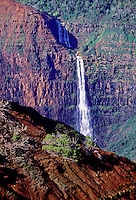 Waipoo Falls as seen from Kokee Road. Waimea Canyon, Kauai