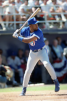 Toronto Blue Jays Joe Carter during the Major League Baseball All-Star Game Home Run Derby at Jack Murphy Stadium  in San Diego, California.  (MJA/Four Seam Images)