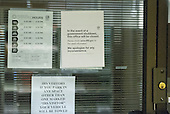 Signs on the door of the Wheaton, Maryland office of the Internal Revenue Service showing its shutdown due to Congress not passing a funding bill on October 1, 2013.<br /> Credit: Ron Sachs / CNP<br /> (RESTRICTION: NO New York or New Jersey Newspapers or newspapers within a 75 mile radius of New York City)