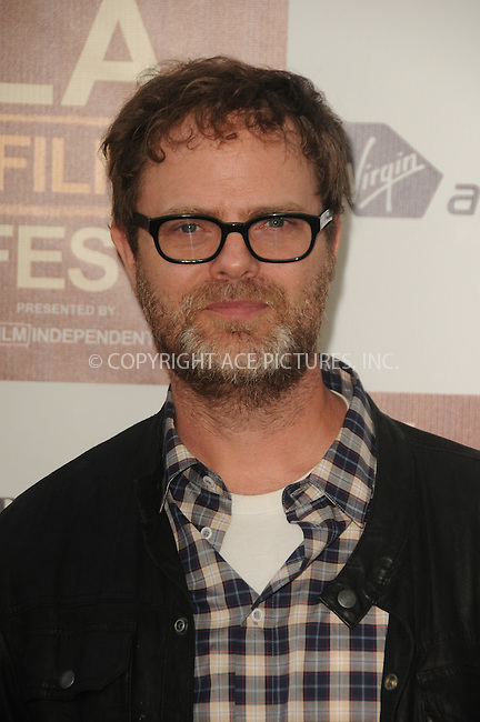 WWW.ACEPIXS.COM . . . . .  ....June 20 2012, LA....Rainn Wilson arriving at Film Independent's 2012 Los Angeles Film Festival Premiere Of  'Middle Of Nowhere' at Regal Cinemas L.A. Live on June 20, 2012 in Los Angeles, California. ....Please byline: PETER WEST - ACE PICTURES.... *** ***..Ace Pictures, Inc:  ..Philip Vaughan (212) 243-8787 or (646) 769 0430..e-mail: info@acepixs.com..web: http://www.acepixs.com