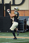 Wake Forest Demon Deacons wide receiver Sage Surratt (14) warms-up prior to the game against the Rice Owls at BB&T Field on September 29, 2018 in Winston-Salem, North Carolina. The Demon Deacons defeated the Owls 56-24. (Brian Westerholt/Sports On Film)