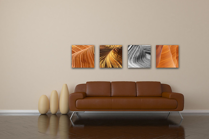 &quot;Nature, squared&quot; is a collection of intimate views of the many facets of nature.  Perfect for small spaces or grouped together to create a visually stimulating montage, each print measures 10&quot;x10&quot; and is printed on your choice of canvas, metal, or Lumachromic acrylic face mount, ready to hang. <br />