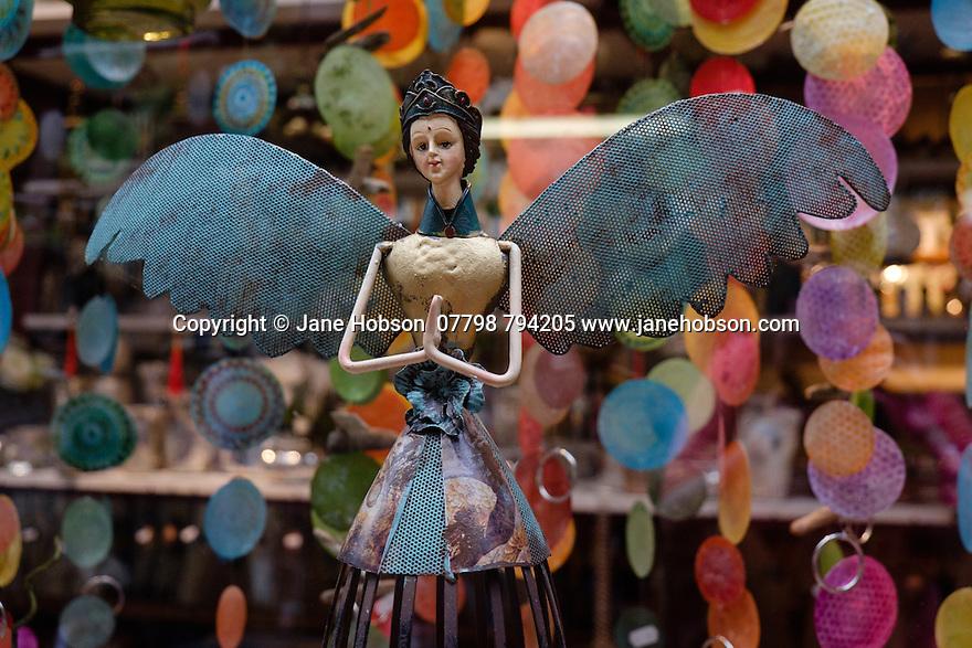 Paris, France. 09.05.2015. a fairy garden decoration in the garden centre at the Jardin des Plantes. Photograph © Jane Hobson.