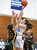 Lily Rakitzis #10 of St. Mary's drains a basket during an NSCHSAA varsity girls' basketball game against St. Anthony's at St. Mary's High School on Tuesday, Jan. 19, 2016. St. Anthony's won by a score of 69-41.