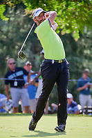 Joost Luiten (NLD) watches his tee shot on 11 during Friday's round 2 of the PGA Championship at the Quail Hollow Club in Charlotte, North Carolina. 8/11/2017.<br /> Picture: Golffile | Ken Murray<br /> <br /> <br /> All photo usage must carry mandatory copyright credit (&copy; Golffile | Ken Murray)