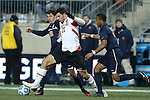 13 December 2013: Maryland's Jake Pace (20) and Virginia's Nicko Corriveau (10). The University of Maryland Terripans played the University of Virginia Cavaliers at PPL Park in Chester, Pennsylvania in a 2013 NCAA Division I Men's College Cup semifinal match. Maryland won the game 2-1.