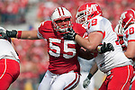 Wisconsin Badgers defensive lineman Eriks Briedis (55) during an NCAA college football game against the Austin Peay Governors on September 25, 2010 at Camp Randall Stadium in Madison, Wisconsin. The Badgers beat the Governors 70-3. (Photo by David Stluka)
