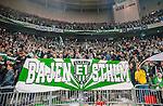 Stockholm 2014-04-14 Fotboll Superettan Hammarby IF - Degerfors IF :  <br /> Hammarbys supportrar med en banderoll <br /> (Foto: Kenta J&ouml;nsson) Nyckelord:  HIF Bajen Degerfors supporter fans publik supporters
