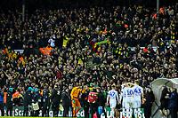Norwich City fans cheer their team after the match<br /> <br /> Photographer Alex Dodd/CameraSport<br /> <br /> The EFL Sky Bet Championship - Leeds United v Norwich City - Saturday 2nd February 2019 - Elland Road - Leeds<br /> <br /> World Copyright © 2019 CameraSport. All rights reserved. 43 Linden Ave. Countesthorpe. Leicester. England. LE8 5PG - Tel: +44 (0) 116 277 4147 - admin@camerasport.com - www.camerasport.com