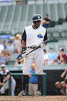 Trenton Thunder outfielder Curtis Granderson (14) during game against the Harrisburg Senators at ARM & HAMMER Park on July 31, 2013 in Trenton, NJ.  Harrisburg defeated Trenton 5-3.  (Tomasso DeRosa/Four Seam Images)