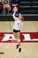 STANFORD, CA - August 28, 2016: Halland McKenna at Maples Pavilion. The Stanford Cardinal defeated the University of Minnesota 3-1.