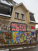 Skatepark Hollerich, Rue de l'Abattoir, Graffiti, Luxemburg-City, Luxemburg, Europa<br /> Skatepark Hollerich, Rue de l'Abattoir, Graffiti, Luxembourg City, Europe