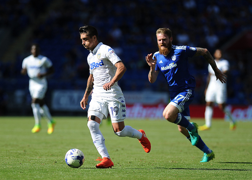 Leeds United's Pablo Hernandez in action during todays match  <br /> <br /> Photographer Ashley Crowden/CameraSport<br /> <br /> The EFL Sky Bet Championship - Cardiff City v Leeds United - Saturday 17 September 2016 - Cardiff City Stadium - Cardiff<br /> <br /> World Copyright &copy; 2016 CameraSport. All rights reserved. 43 Linden Ave. Countesthorpe. Leicester. England. LE8 5PG - Tel: +44 (0) 116 277 4147 - admin@camerasport.com - www.camerasport.com