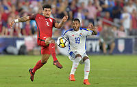 Orlando, FL - Friday Oct. 06, 2017: DeAndre Yedlin, Alberto Quintero during a 2018 FIFA World Cup Qualifier between the men's national teams of the United States (USA) and Panama (PAN) at Orlando City Stadium.