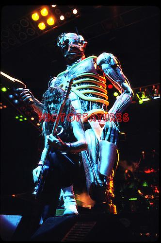 Iron Maiden 1987 Steve Harris and Eddie in Japan