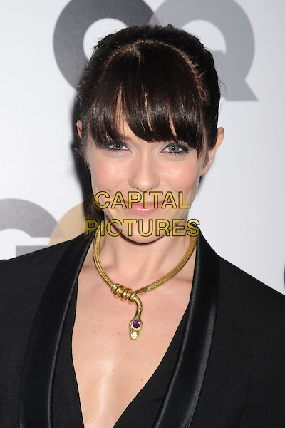 Katie Aselton.Arriving at the GQ Men Of The Year Party at Chateau Marmont Hotel in Los Angeles, California, USA..November 13th, 2012.headshot portrait gold necklace black  .CAP/ROT/TM.©Tony Michaels/Roth Stock/Capital Pictures