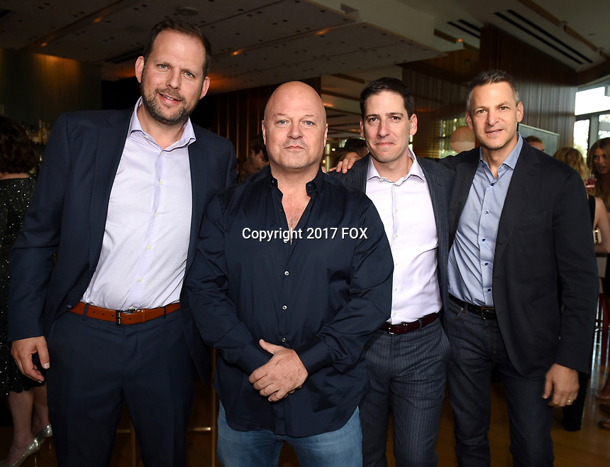 LOS ANGELES, CA - SEPTEMBER 16: (L-R) Nick Grad, Michael Chiklis, Eric Schrier and Joe Cohen attend the FX Networks and Vanity Fair 2017 Primetime Emmy Nominee Celebration at Craft LA on September 16, 2017 in Los Angeles, California. (Photo by Frank Micelotta/FX/PictureGroup)