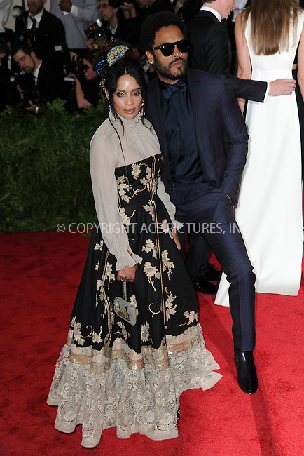 WWW.ACEPIXS.COM<br /> May 4, 2015...New York City<br /> <br /> Lisa Bonet and Lenny Kravitz attending the Costume Institute Benefit Gala  celebrating the opening of China: Through the Looking Glass at The Metropolitan Museum of Art on May 4, 2015 in New York City.<br /> <br /> Please byline: Kristin Callahan<br /> ACEPIXS.COM<br /> Tel# 646 769 0430<br /> e-mail: info@acepixs.com<br /> web: http://www.acepixs.com