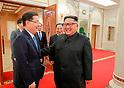 Special envoy of South Korean President Moon Jae-In meets North Korean leader Kim Jong-Un in Pyongya