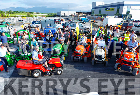 The Drivers line up  at the start of the Lawnmower run in Killorglin on Friday evening