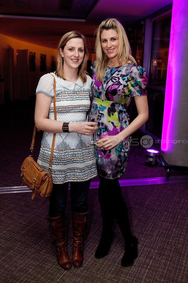 3/3/2011. TV3 SPRING SCHEDULE LAUNCH. Pictured at the Aviva Stadium for the launch of the TV3 spring schedule are  Alice Brennan and Anna Pfeifer Publicis Media.Picture James Horan/Collins Photos