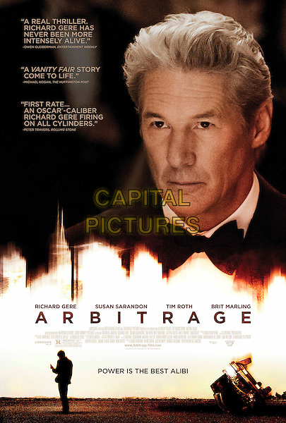 ONE SHEET POSTER ART.in Arbitrage (2012) .*Filmstill - Editorial Use Only*.CAP/FB.Supplied by Capital Pictures.