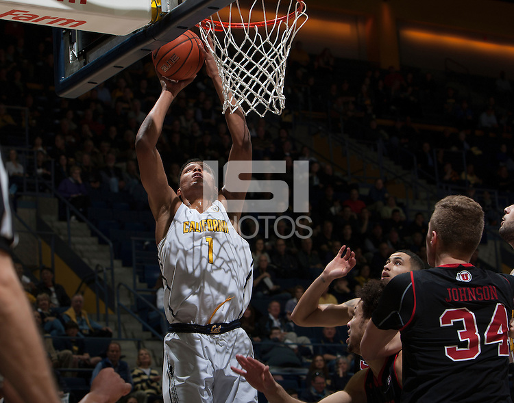 Berkeley, CA - February 2nd, 2017:  CAL Men's Basketball's 77-75 double overtime victory against Utah Utes at Haas Pavilion.