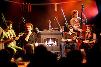 March 16 , 2006 ,  Montreal (QC) CANADA<br /> <br /> Guys wells in concert at Lion d'Or in Montreal.<br /> <br /> Guy-Philippe Wells was born in Chicoutimi, Quebec, some years ago. He worked as a researcher for the Bloc QuÈbÈcois in Ottawa from 1993 to 1995, and later as an adviser to Premier Lucien Bouchard in Quebec City from 1996 to 1998.  Leaving the world of politics for a musical career, he recorded a few of his original songs, leading to the completion of Patience, a 10-song demo produced in 1998. In 1999, he opened Studio PenchÈ, where he produced commercial music, voice-overs and other artists' demos as well as his own second demo, Longueur de temps. With several other musicians, he used his 2000, 2002 and 2003 Quebec Arts and Letters Council grants to create his first album.<br /> Wells gave a number of concerts in Montreal, namely as part of the Saint-Jean-Baptiste celebrations, and performed at the Au QuÈbec la chanson m'enchante festival. He was among the 2003 Festival en Chanson de Petite-VallÈe's six finalists, and won the Kasbah Studio Award. He also performed at the Montreal FrancoFolies, Maison du PËre, Coups de Cúur Francophones, Chicoutimi's Vieux-Port and ThÈ'tre L'EssaÔon in Paris, France.<br /> <br /> Wells was signed in 2004 by singer-songwriter Edgar Bori's Productions de l'Onde label. His debut album was launched on August 31, 2005.<br /> <br /> <br /> Photo : (c) 2006 Pierre Roussel